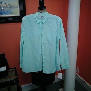 Mint button up shirt